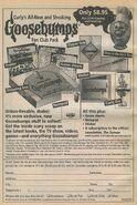 Goosebumps Fan Club Pack bookad from orig series 55 1997