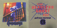 37 Headless Ghost square spiderweb lose head tan T-shirt f+b detail
