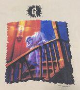 37 Headless Ghost jaggedborder tan T-shirt detail