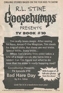 Presents TV ep 10 Bad Hare Day bookad from OS52 1stpr 1997