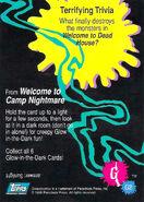 09 Camp Nightmare Glow Dark Topps Trading Card G2 back