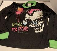 Curly Beware Scare 1995 pajama shirt Wormser