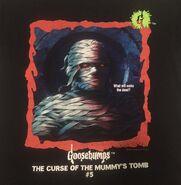 05 Curse Mummys Tomb red border t-shirt detail