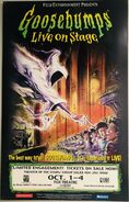 Goosebumps Live On Stage Window Card Poster Oct 1998 Fox Atlanta