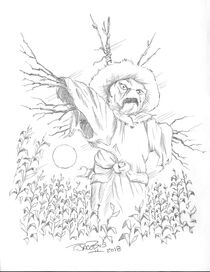 The Scarecrow Walks at Midnight 2018 sketch
