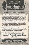 GYG 16 Secret Agent Grandma bookad from OS53 1997 1stpr