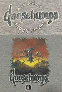 35 Shocker on Shock Street spikyborder grey T-shirt f+b detail