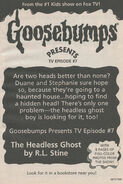Presents TV ep 07 Headless Ghost bookad from OS49 1996 1stpr