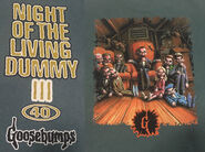 40 Night Living Dummy III eatenborder green T-shirt f+b detail