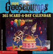 Goosebumps 1998 calendar