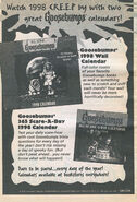 1998 wall + Scare-a-Day calendar bookad from OS 57