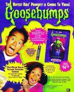 Haunted Mask VHS + bookmark trade print ad etdweekly