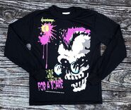 Curly Beware in for Scare long sleeve T-shirt Wormser