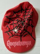 Goosebumps red spiderweb baseball cap hat