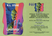Goosebumps 46 How to Kill a Monster trading card front and back