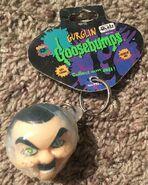 Gurglin Goosebumps Slappy keychain with tag 4Kidz front