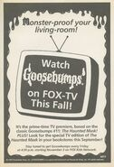 Goosebumps on Fox TV this fall bookad from orig series 38 1995