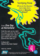 16 Horrorland Glow Dark Topps Trading Card G4 back