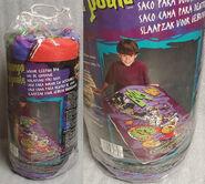 Khor-Ru skateboarding purple indoor sleeping bag in pkg
