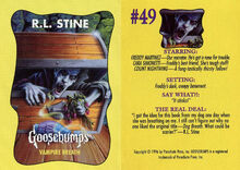 Goosebumps 49 Vampire Breath trading card front and back