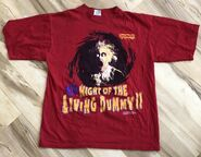 Night Living Dummy II red T-shirt 1996 front Tour Champ