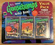 GB Audio Books Value Pack 3 Cassettes Mutant Shocker Terror front