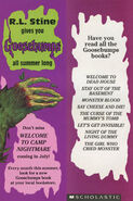 Goosebumps 08 Girl Cried Monster bookmark front and back