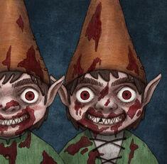 Revenge of the Lawn Gnomes - Korean Artwork