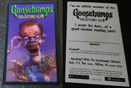 Slappy Curly Collectors Club membership card f+b