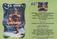 Goosebumps 47 Legend of Lost Legend trading card front and back