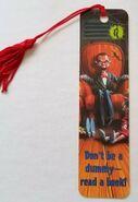 Slappy Antioch tasseled bookmark front