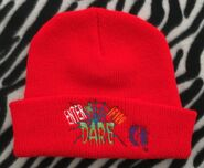 Enter if You Dare red beanie hat Berkshire