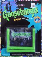 Goosebumps Wallet w photo sleeve pyramid in pkg front