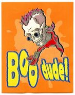 Curly Boo Dude 1996 Merlin 5 textured sticker