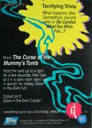 05 Mummy Glow in Dark Topps Trading Card G1 back