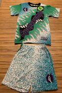 GB logo hands green drips 1995 Hidary shirt + shorts set