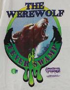 Werewolf Fever swamp circle drip T-shirt detail