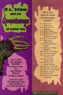 Goosebumps 20 Scarecrow Walks Midnight bookmark front and back