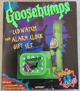 LCD Watch Alarm Clock gift set in pkg front