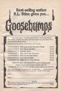 Goosebumps booklist 1-7 from OS 8 1stpr