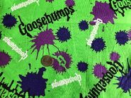 Goosebumps paint splat 1997 lime green fabric