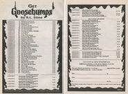 Goosebumps 1-50 booklist Get 2p from OS 50