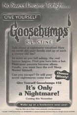 GYG 32 Its Only a Nightmare bookad from GYG31