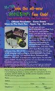 Goosebumps Fan Club ad circa 1997 from HMII VHS