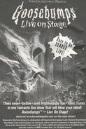 Goosebumps Live on Stage bookad from s2000 13 1999