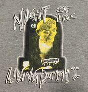 Night Living Dummy II TV Slappy 1996 T-shirt detail