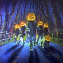 Attack of the Jack-O'-Lanterns - artwork