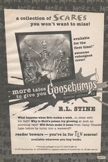 More Tales to Give You Goosebumps 2 1997 reprint bookad from OS58