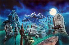 Terror in the Graveyard - artwork