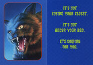Goosebumps 2000 01 Cry of the Cat trading card front and back